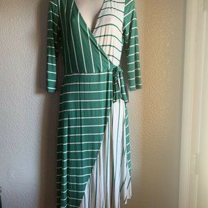 Women's Spense Wrap Dress Mid Length